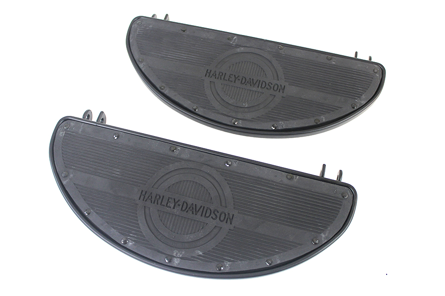 Replica Driver Matte Black Footboard Set with Logo