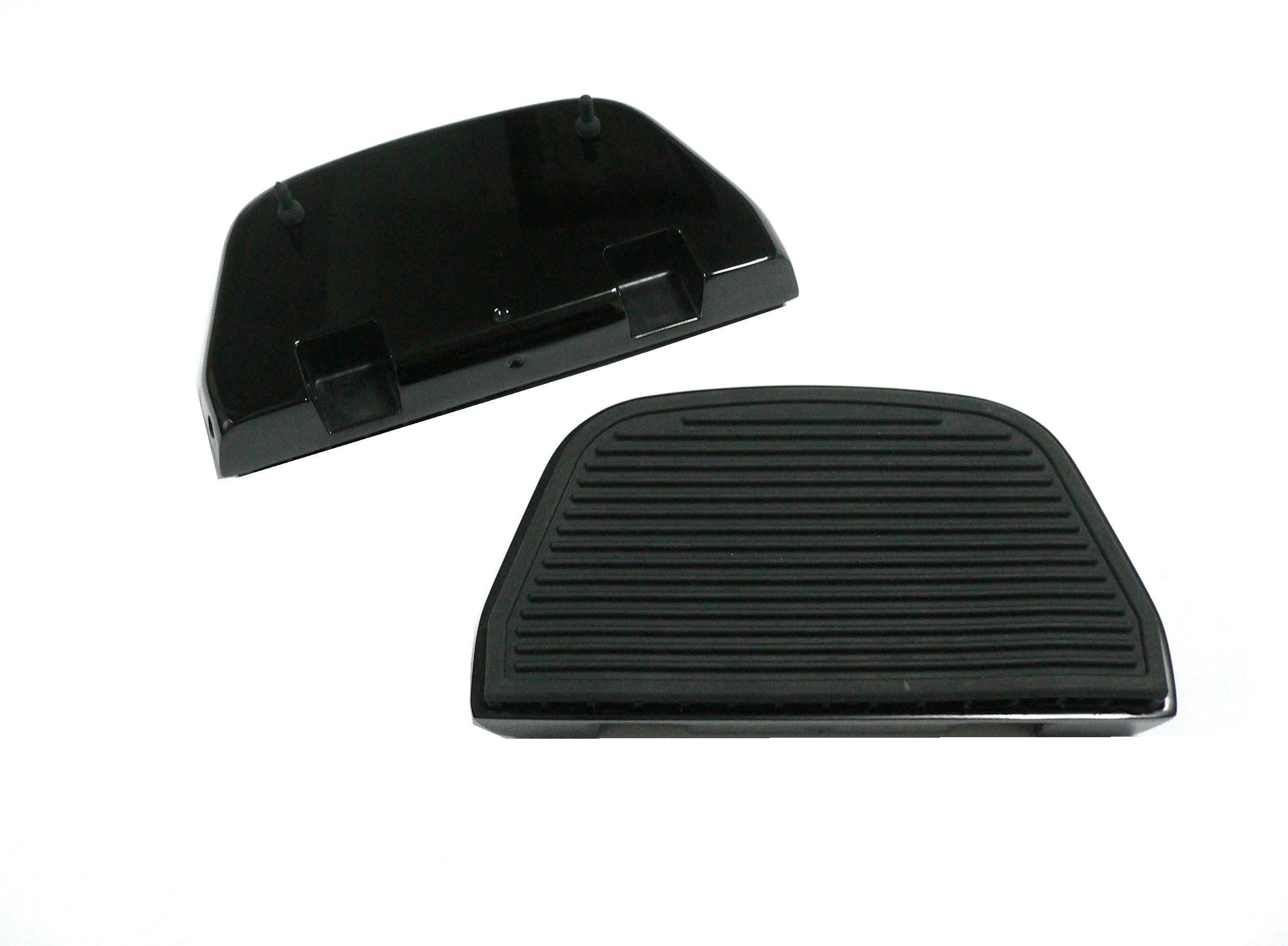 Black Rear Ribbed Passenger Footboard Kit