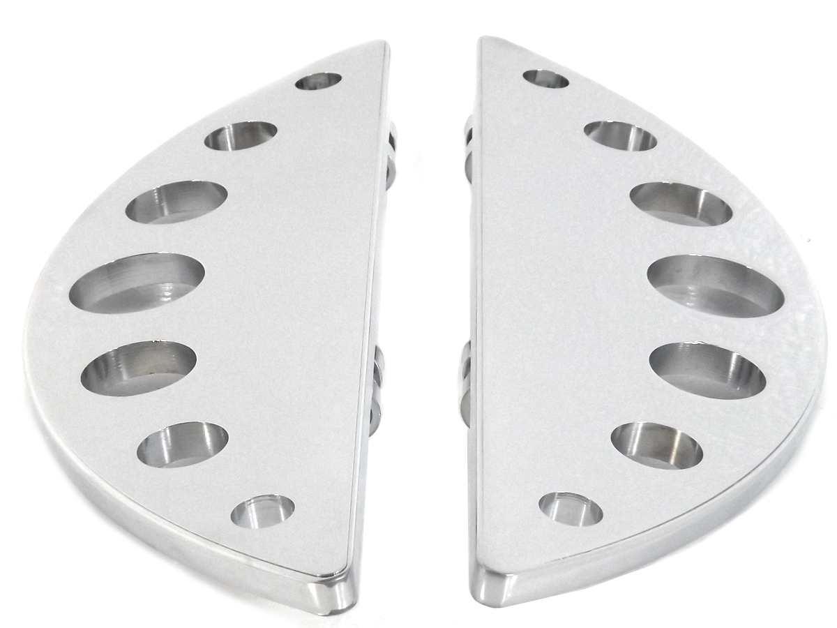 Driver Chrome Half Moon Footboard Set
