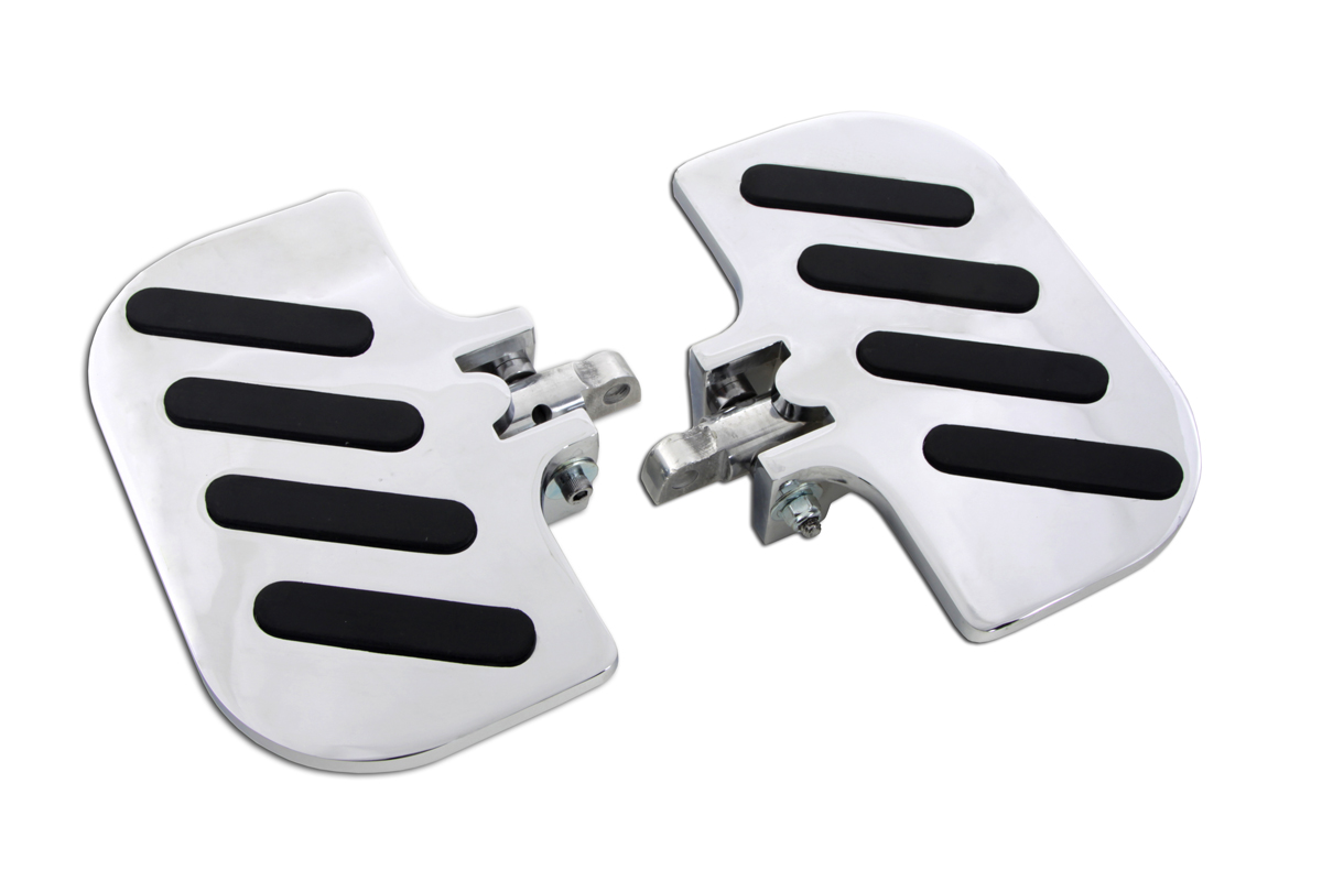 Chrome Slot Inverted Passenger Footboard Set