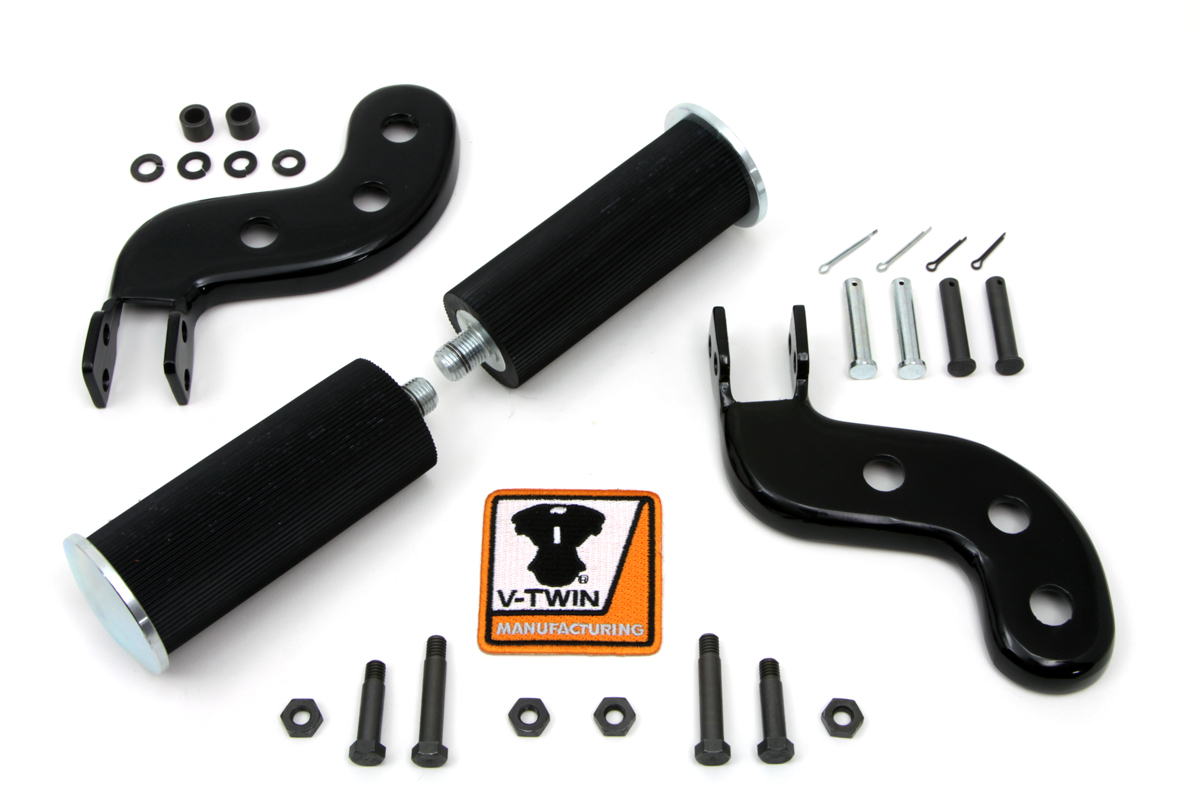 Buddy Seat Footpeg Set Black