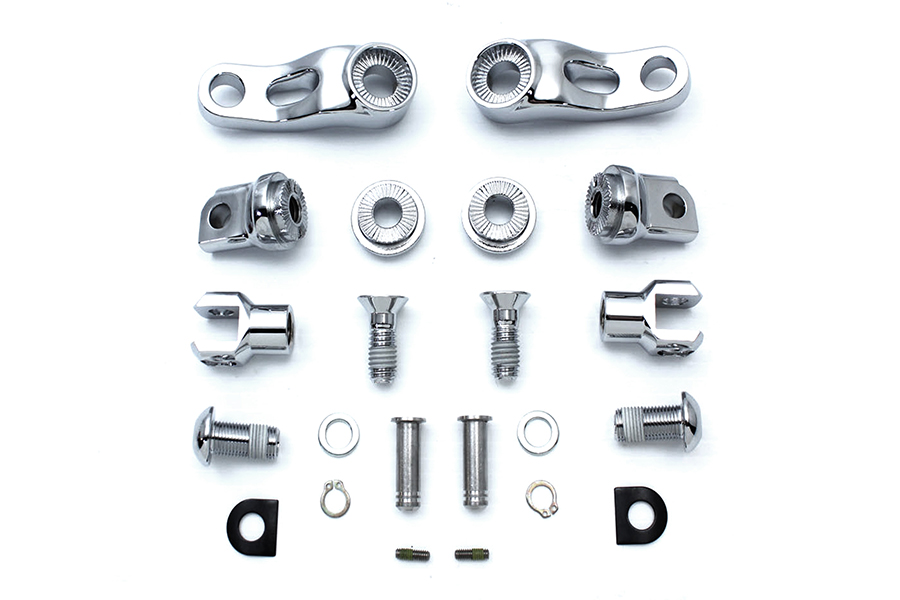 Adjustable Passenger Footpeg Mount Kit Chrome