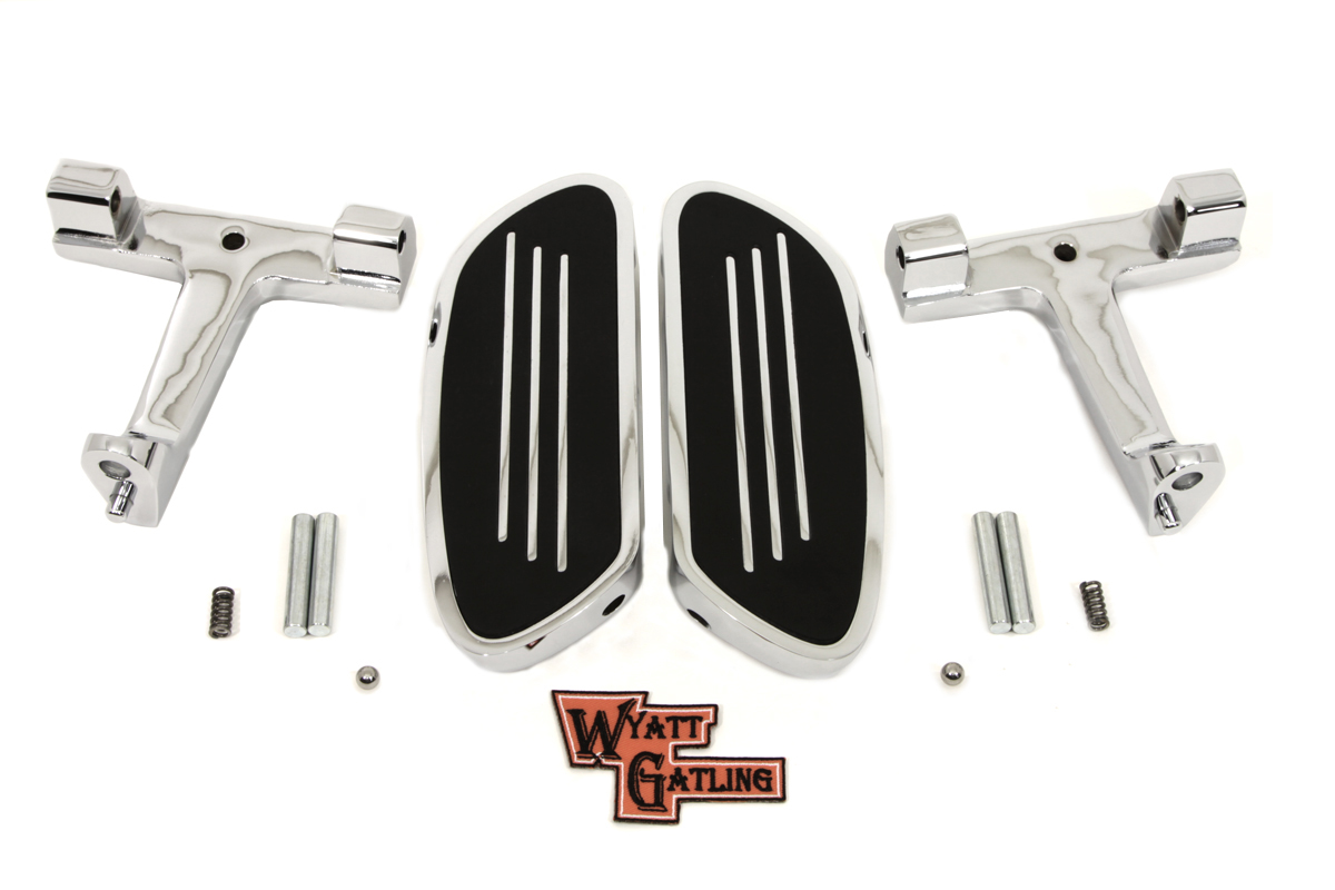 Wyatt Gatling Chrome Passenger Footboard Kit