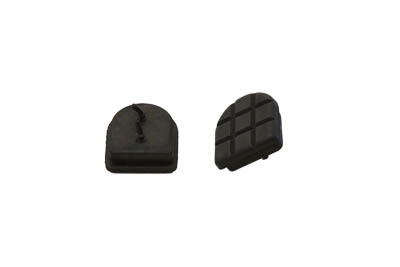 V-Twin Black Pair Footpeg Heel Stirrup Replacement Rubber Pads for Harley