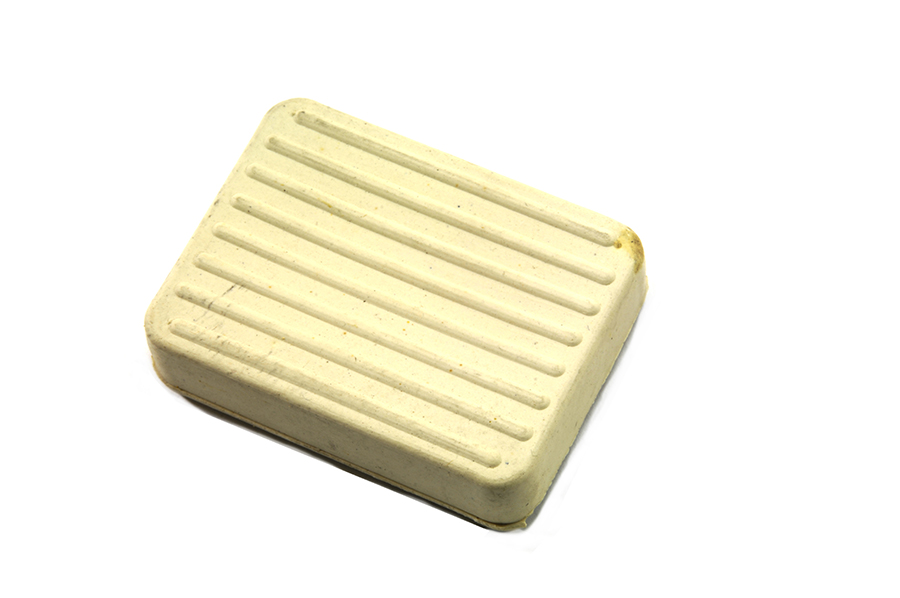 White Brake Pedal Rubber