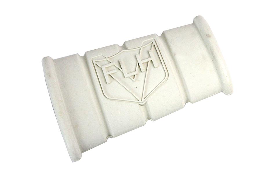 White Rubber Kick Starter Pedal With FLH Logo