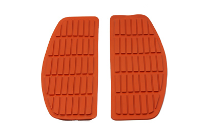 Footboard Orange Mat Set