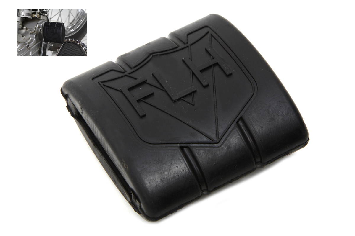 Black Rubber Brake Pedal Pad With FLH Logo