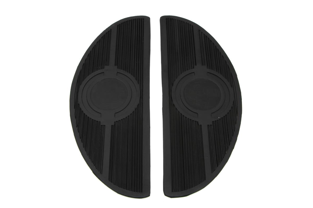 Half Moon Footboard Mat with Bullseye Design