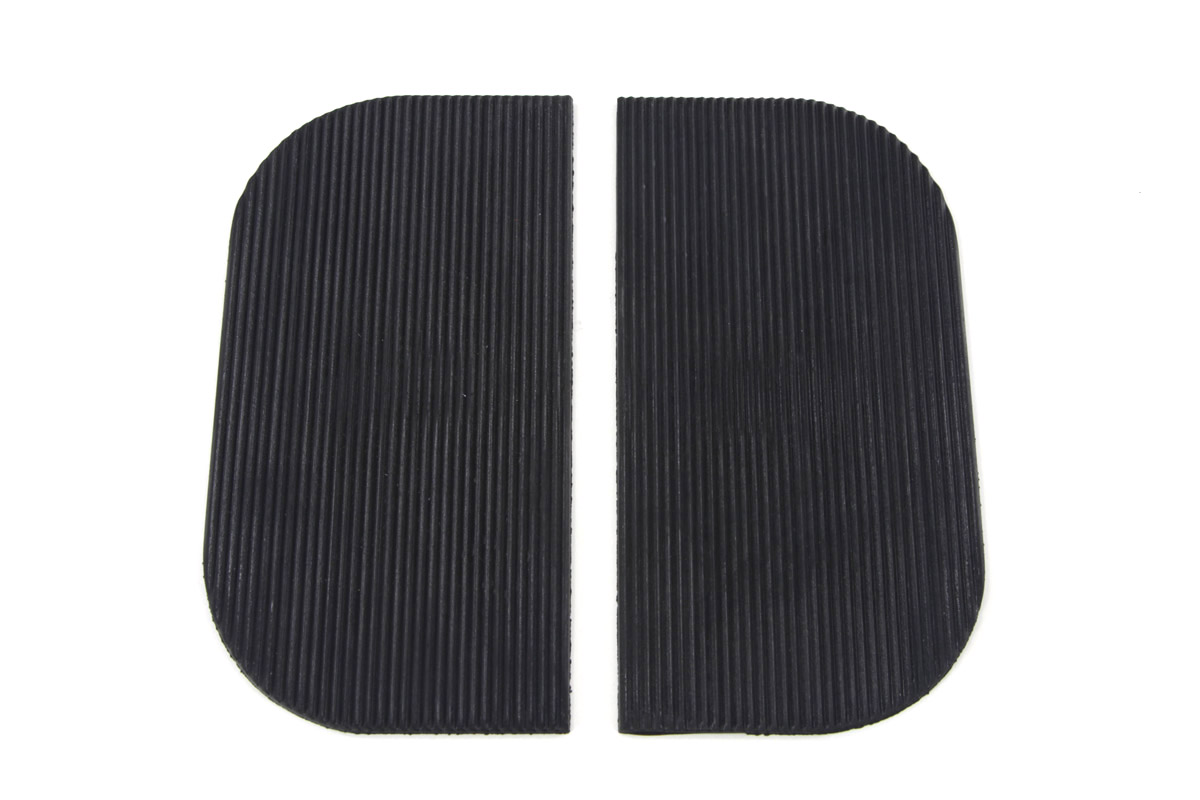 Mini Footboard Mat Set Black Rubber