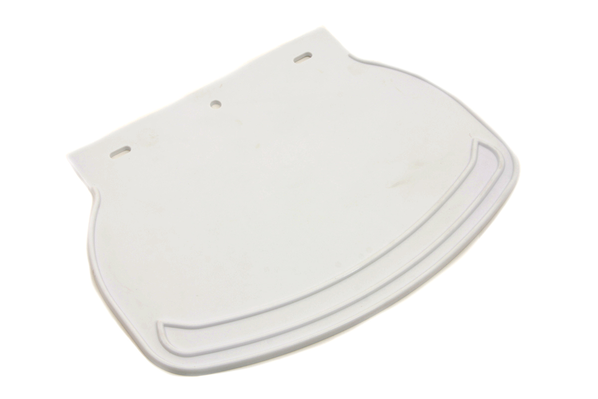 Mud Flap Rubber White Plain