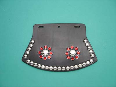*UPDATE Mud Flap Leather Black Red Dots