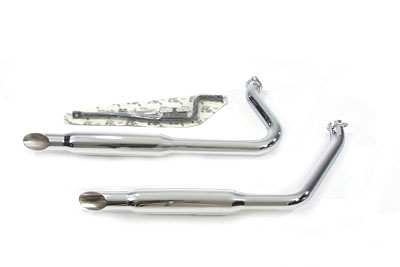 Chrome Exhaust Pipe Set With Shorty Mufflers