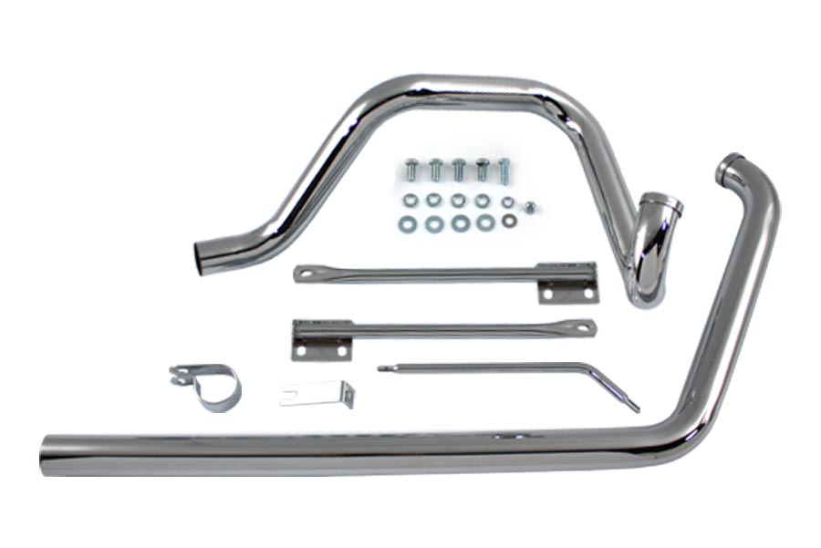 True Dual Exhaust Pipe System Chrome