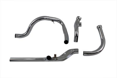 Replica Dual Crossover Chrome Exhaust System