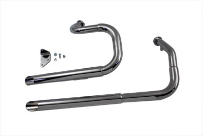 Exhaust Drag Pipe Set Slash Cut