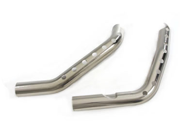 *UPDATE Exhaust Heat Shield Set Chrome with Holes