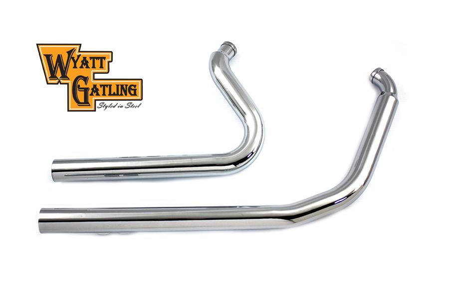 Wyatt Gatling Exhaust Drag Pipe Set Straight Cut