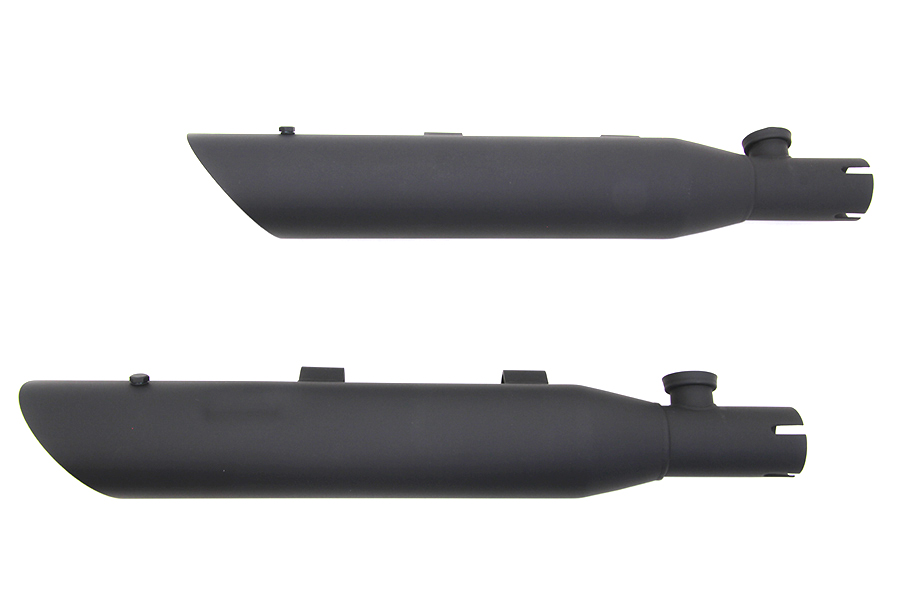 Wyatt Gatling Side Slash Slip-On Muffler Set Black