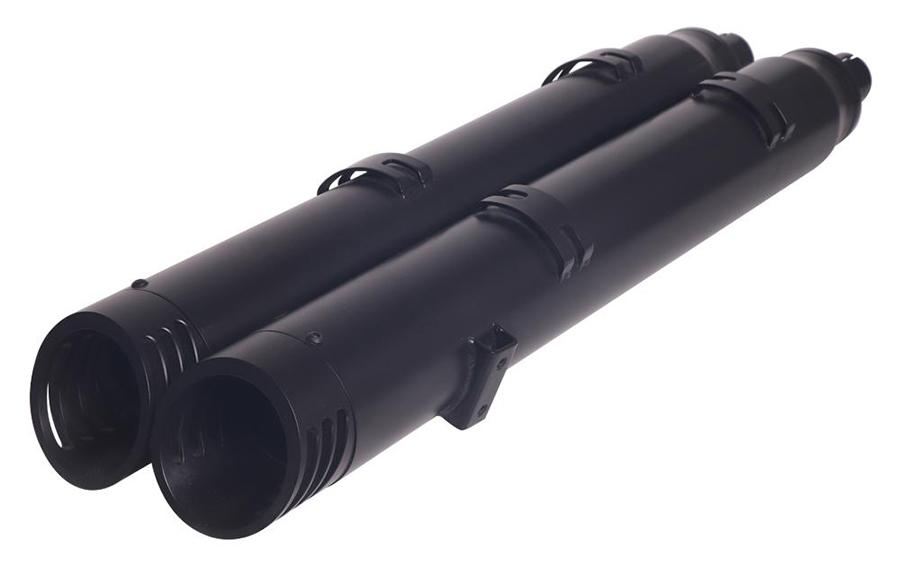 Indian Slip On Muffler Set Black