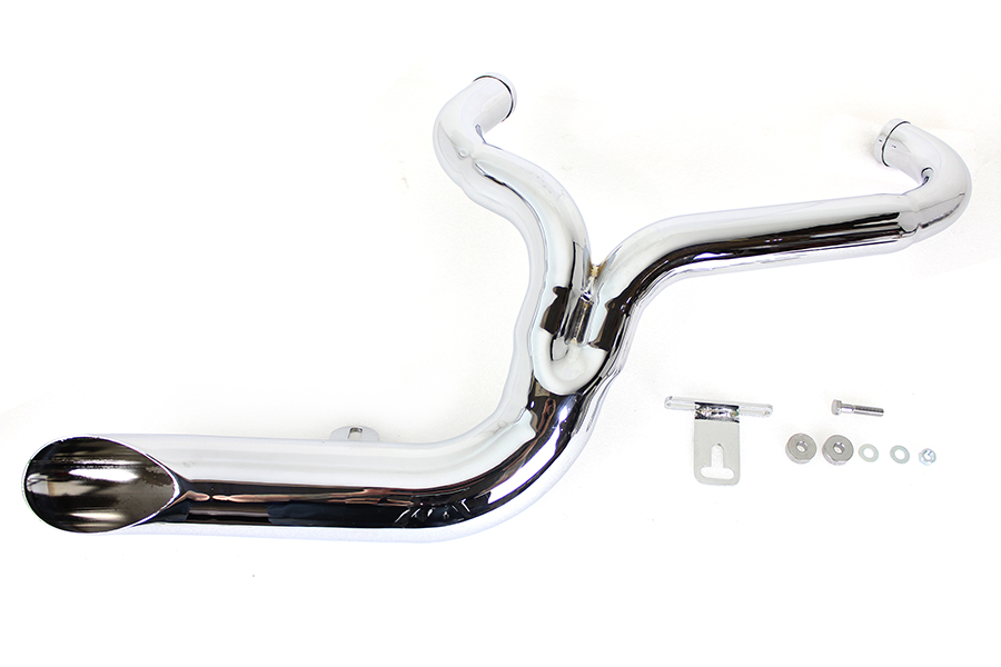 FXD 2:1 Lake Side Pipe Exhaust Chrome