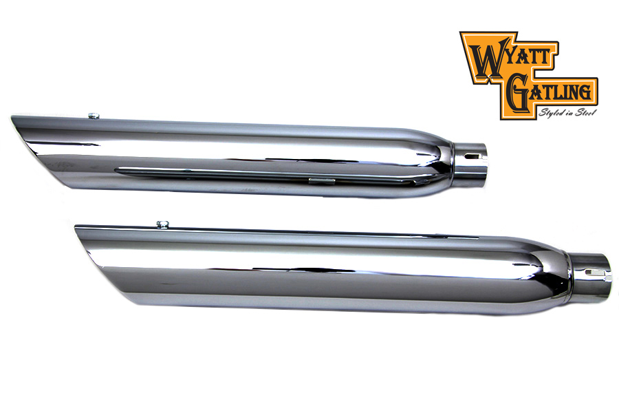 Wyatt Gatling Chrome Side Slash Muffler Set