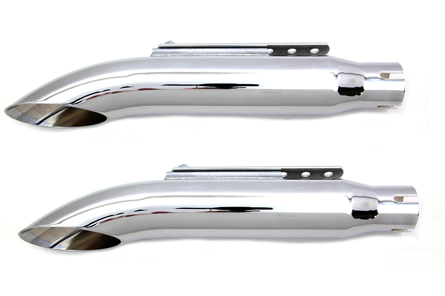 "16"" Turn Out Muffler Set Chrome"