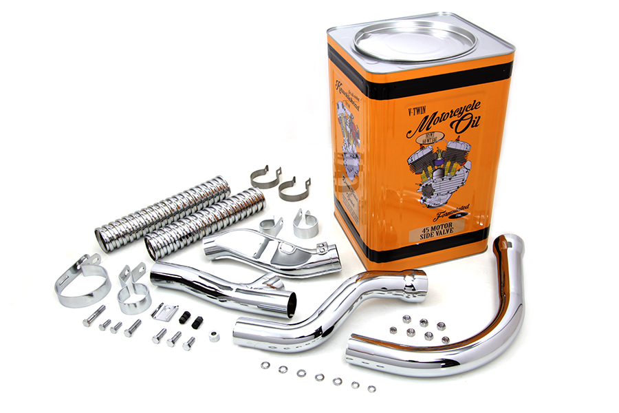Chrome Panhead Exhaust Header Kit