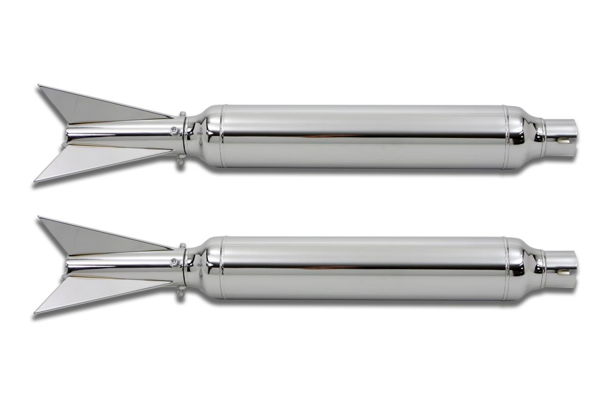 Dual Three Fin Rocket Muffler Kit