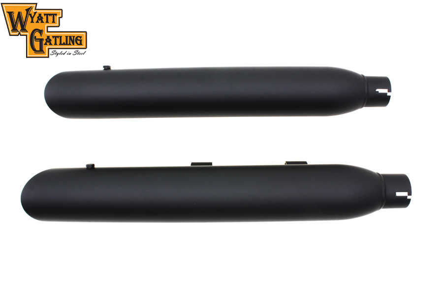 Wyatt Gatling Black Slash Muffler Set