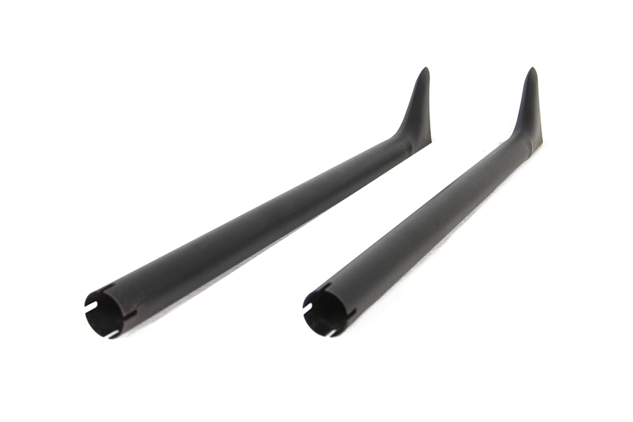 "36"" Straight Fishtail Exhaust Extension Set Black"