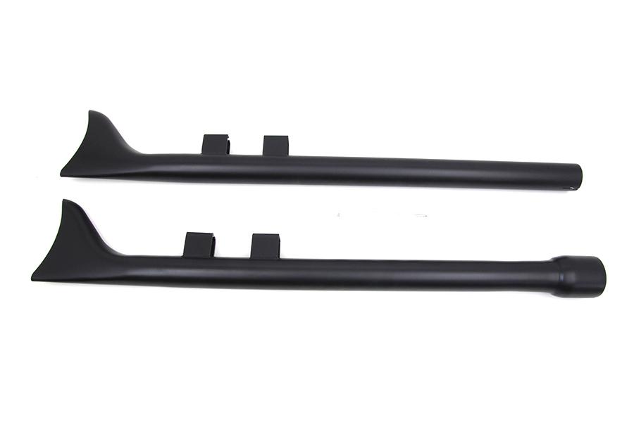 "M8 33"" Straight Fishtail Exhaust Extension Set Black"