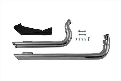 Wyatt Gatling Exhaust Drag Pipe Set Slash Cut