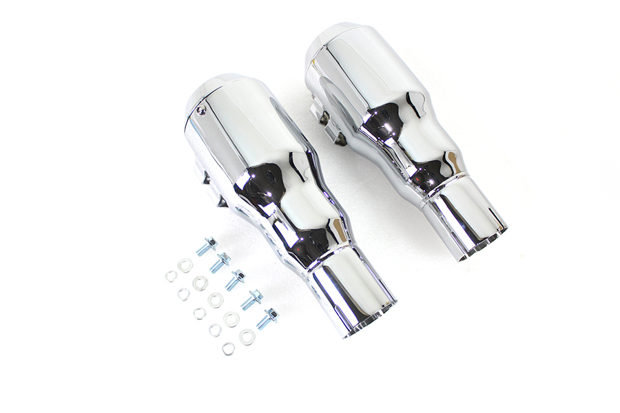 Grenade Muffler Set Chrome