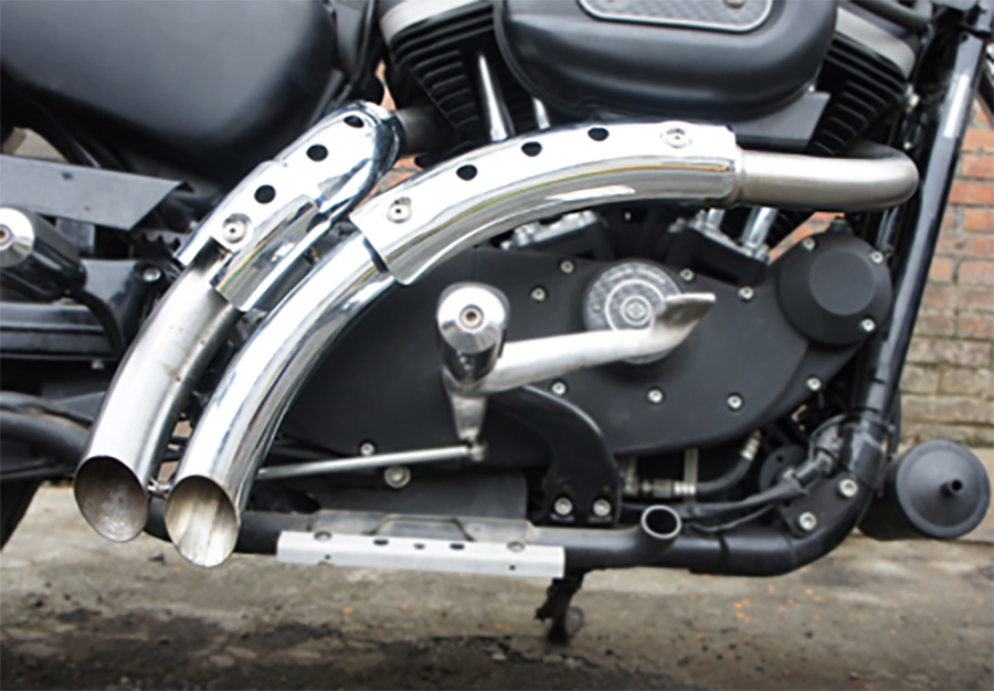 "Chrome 1-3/4"" Magnum Exhaust Drag Pipe Set"