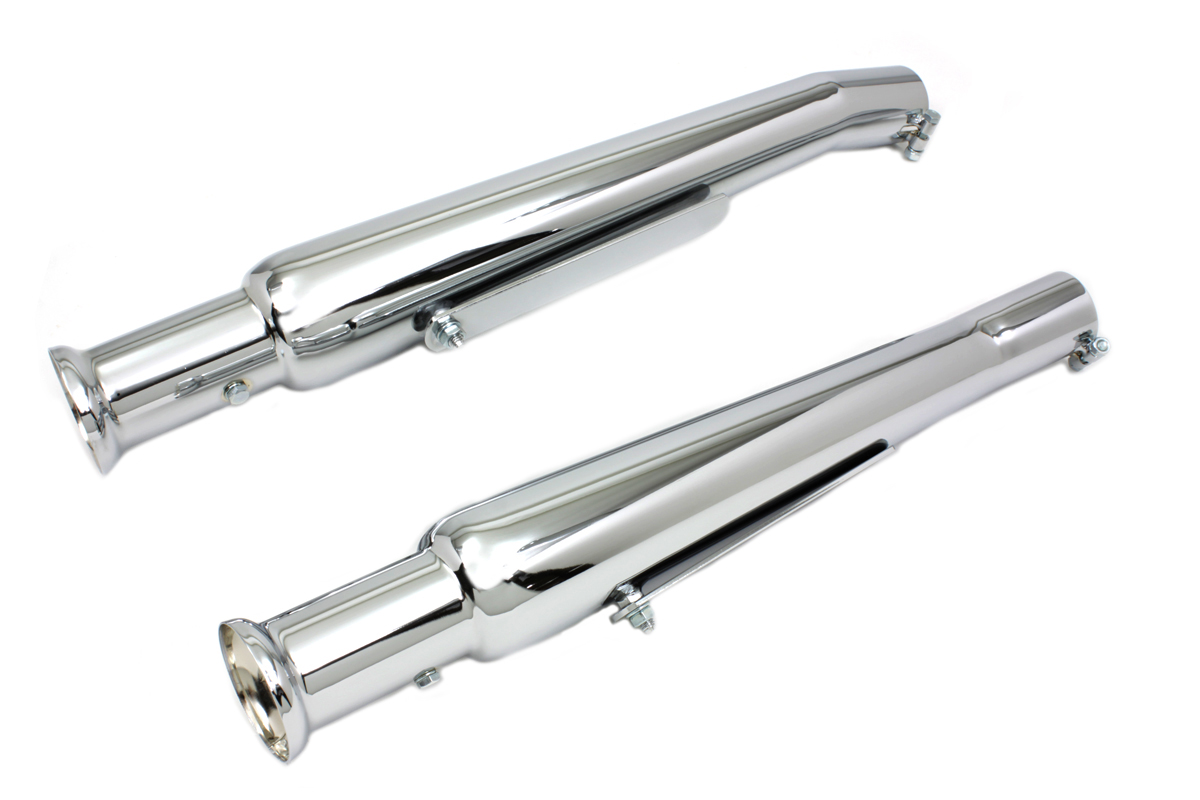 Chrome Megaphone Muffler Tip Set