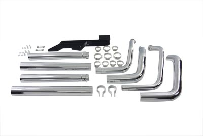 Exhaust Drag Pipe Set Stagger Shots Dual