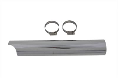 "Chrome 14"" Lower Y Exhaust Heat Shield"