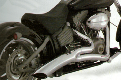 *UPDATE 2 into 1 Exhaust Pipe Header Set Chrome
