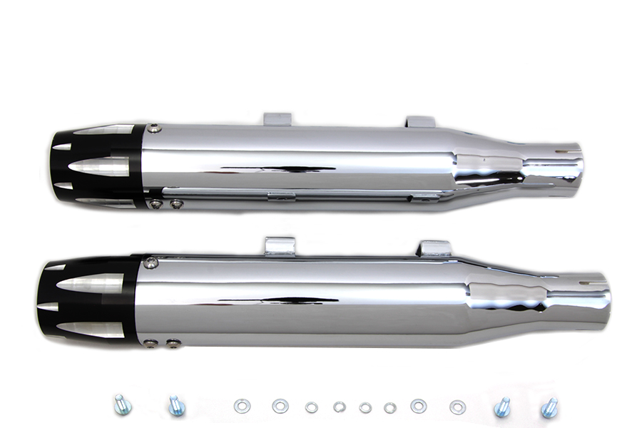 Chrome Highlighted Revolver Tip Muffler Set