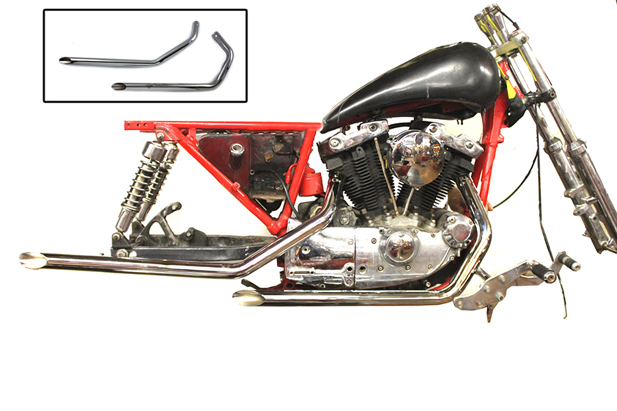 Wyatt Gatling Exhaust Drag Pipe Set Slash Cut Ends