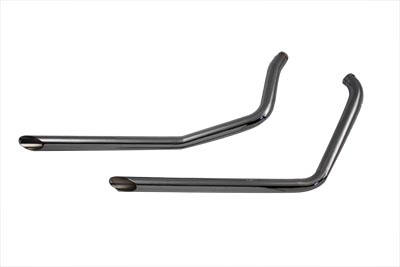 Exhaust Drag Pipe Set Slash Cut Ends