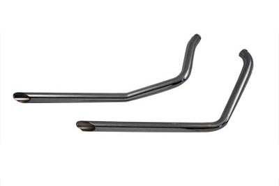 Set of Three Exhaust Drag Pipes with Slash Cut Ends