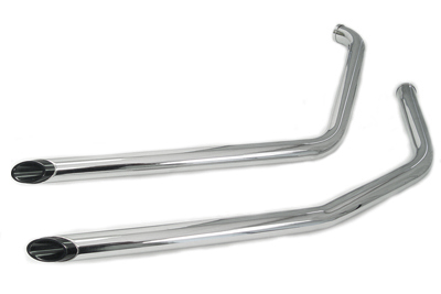 Exhaust Drag Pipe Set with Black Slash Tips