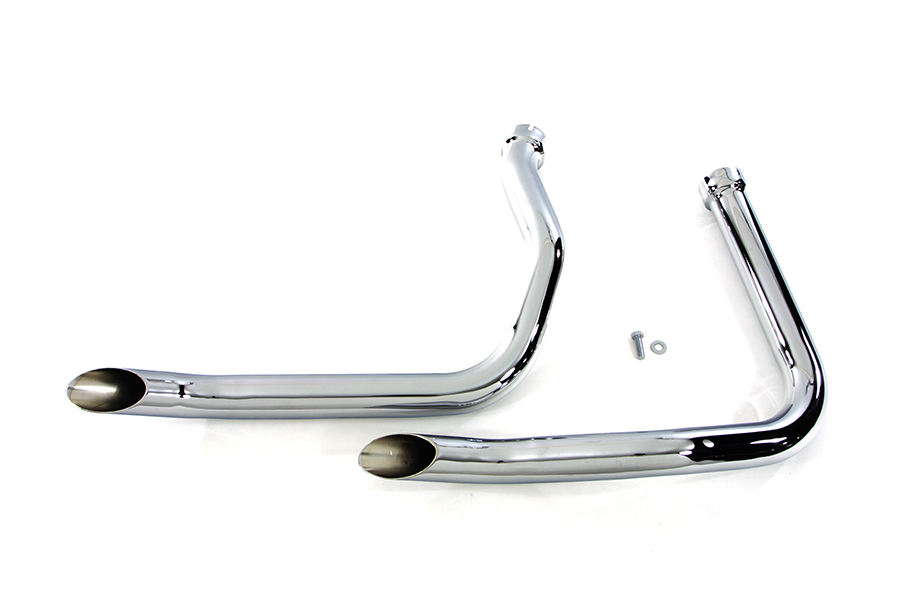 Exhaust Goose Drag Pipe Set with Slash Cut Ends