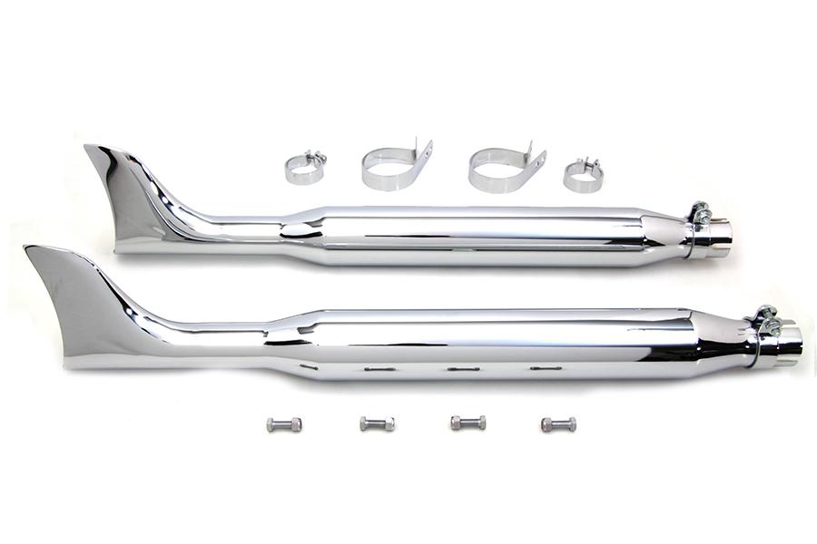 "Chrome Fishtail Muffler Kit 30"""