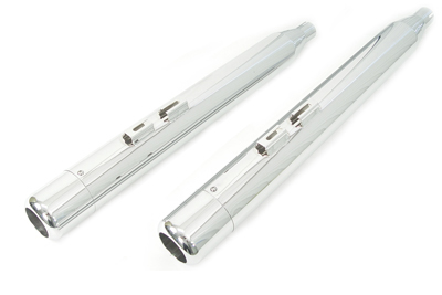 """4"""" Muffler Set with Chrome Hollow Point End Tips"""