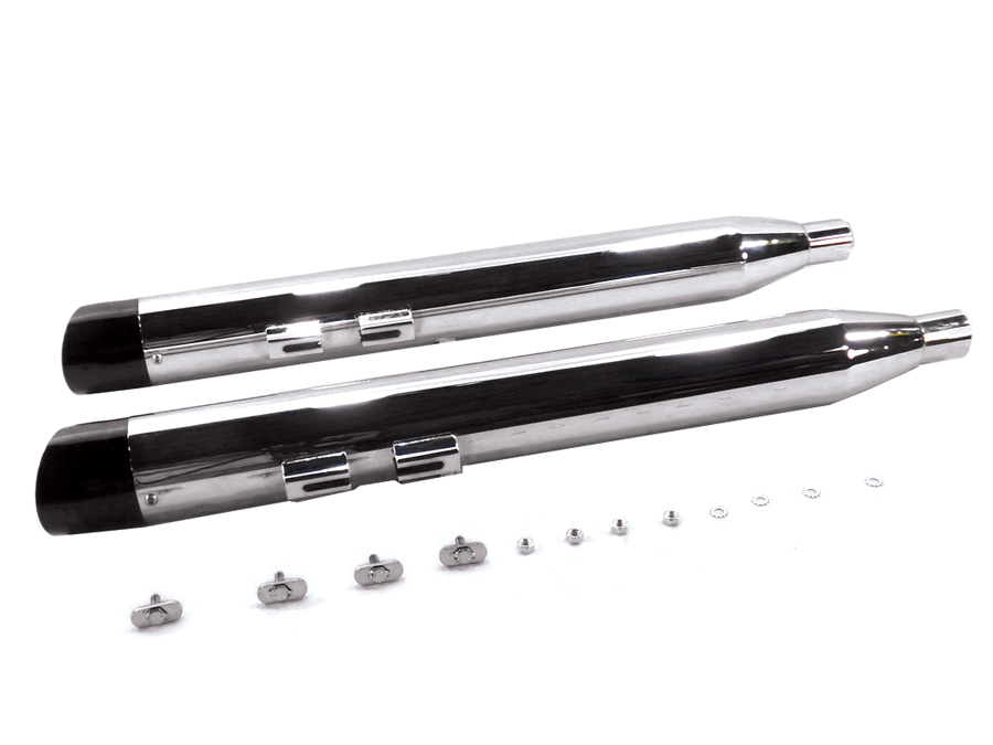 Chrome Muffler Set with Slash Cut End Tips