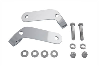 Chrome Universal Spotlamp Bracket Set