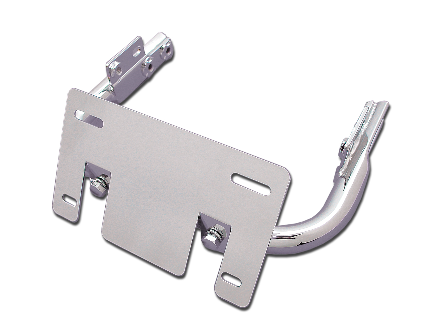 Chrome Lay-Down License Plate Bracket